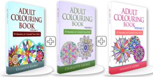 3 colouring books 1-3 bundle